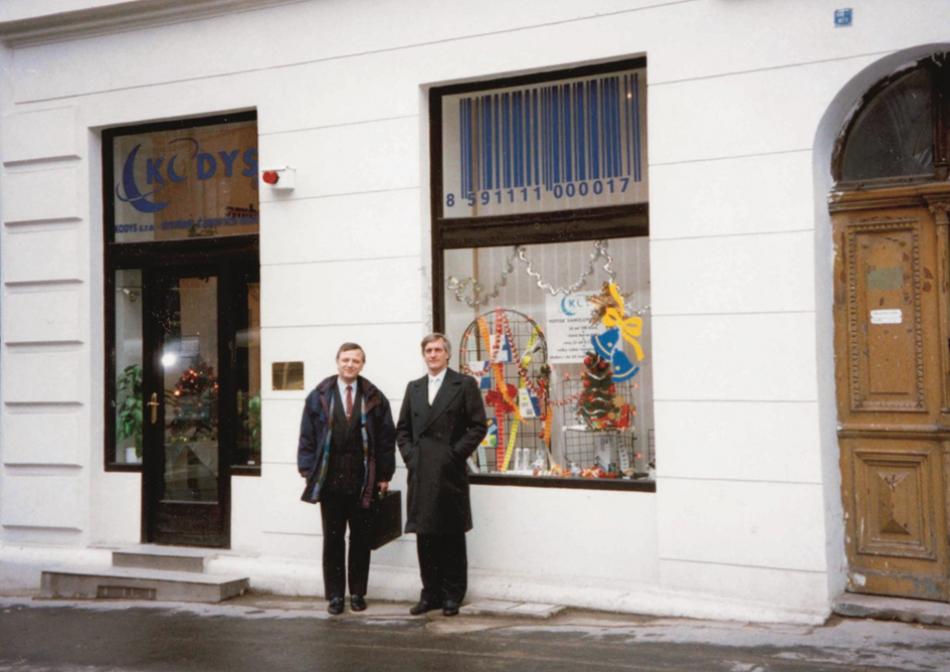 KODYS ve vší kráse i s naším zakladatelem p. Vonáskem (vlevo).